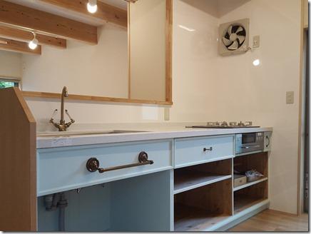 F邸キッチン造作